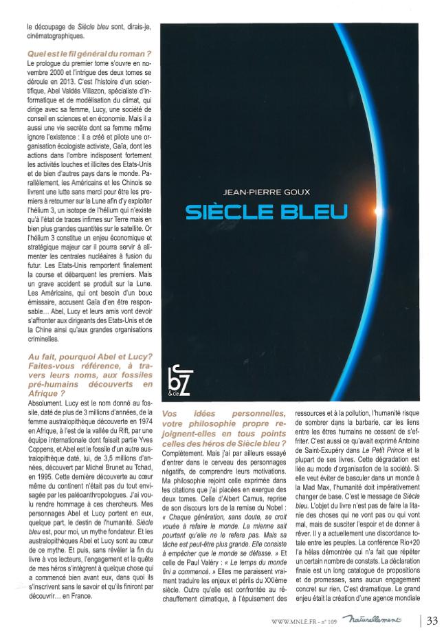 Jean pierre goux le siecle bleu
